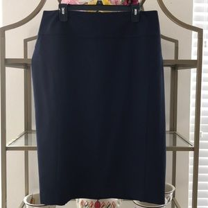 Worthington Navy Blue Suiting Skirt